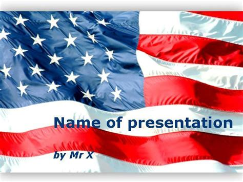 american flag powerpoint template american flag waving powerpoint template