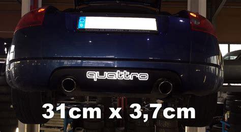 Audi Quatro Aufkleber by Audi Quattro Aufkleber Sticker Reflektierend O Neon