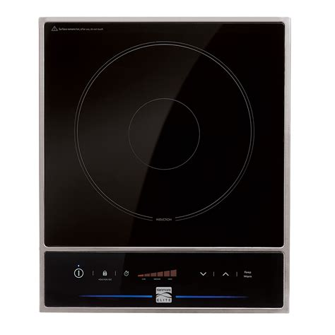 induction cooktop non magnetic kenmore elite mc stw1501 portable induction cooktop with non stick fry pan sears outlet