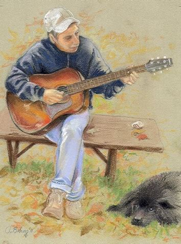 painting you can play guitarman pastel bohoy original painting by artist