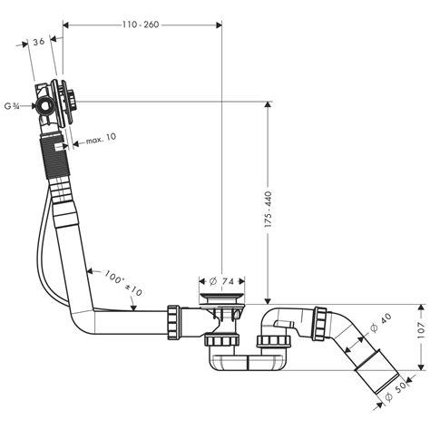 Hansgrohe Badewannen Ablauf by Hansgrohe Grundk 246 Rper F 252 R Ein Ab Und 220 Berlaufgarnituren