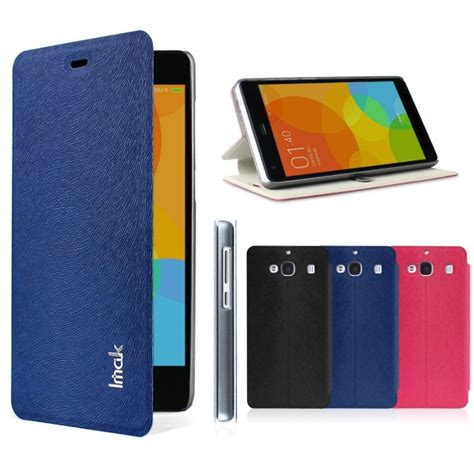 Xiaomi Redmi 2 2 Prime Leather Bumper Cover Casing Kesing Kulit imak flip leather cover series for xiaomi redmi 2 redmi 2 prime blue jakartanotebook