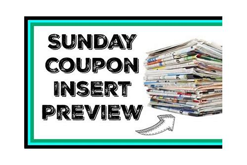 where can i buy sunday paper coupon inserts