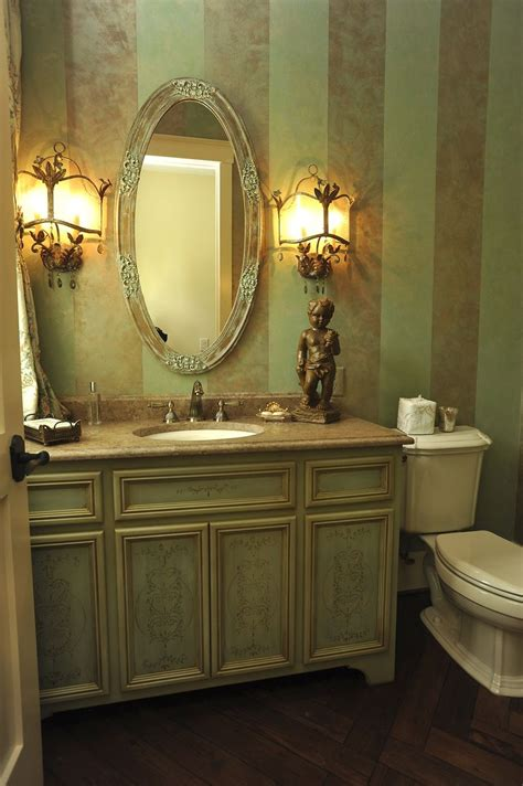 hand crafted powder room vanity  perfect design