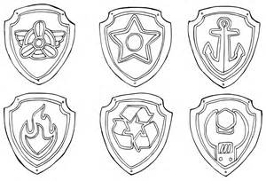 paw patrol badges coloring pages getcoloringpages