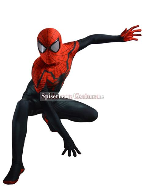 superior spider man pattern pin adult spiderman costumes plus size ultimate movie