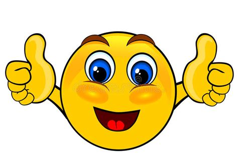 clipart faccine smile emoticons thumbs up stock illustration image 60753634