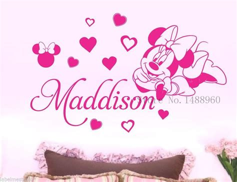 minnie mouse wall stickers e133 minnie mouse vinyl wall stickers for room decor removable wall decal for baby