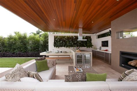 modern outdoor kitchens outdoor kitchen design patio contemporary with wood