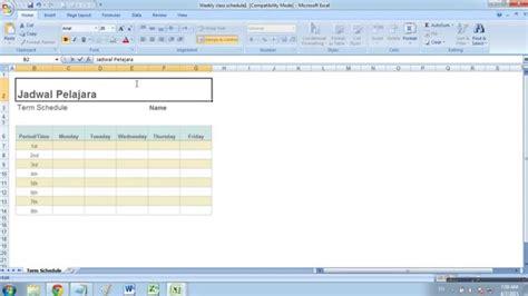 membuat flowchart dengan excel 2007 cara membuat jadwal pelajaran dengan microsoft excel 2007