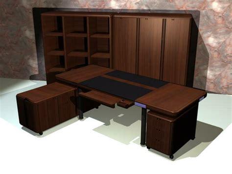 executive office furniture sets 3d model 3d studio 3ds max