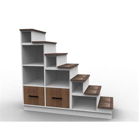 escalier pour mezzanine tiroirs bois dessinetonmeuble