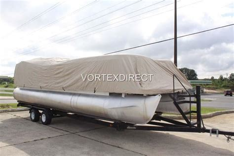 sell new vortex beige tan 28 ft 28 foot pontoon boat - Vortex Boat Covers