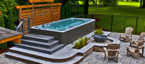 swim spa backyard designs hydropool hot tubs swim spas and accessories jacuzzi