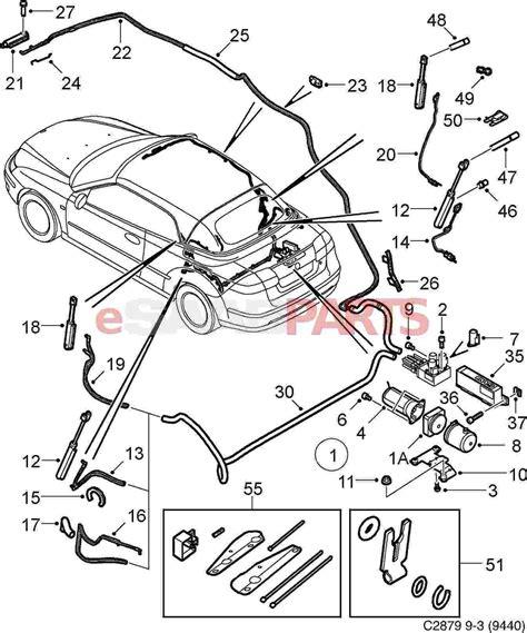 saab 93 parts diagram 2003 saab 9 3 convertible top diagram html