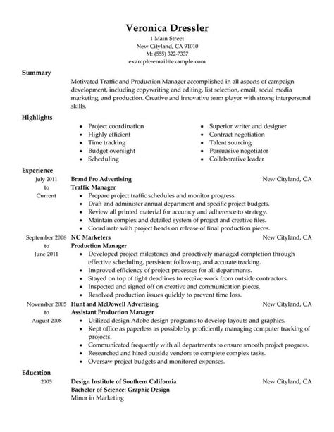 resume manufacturing manager resume