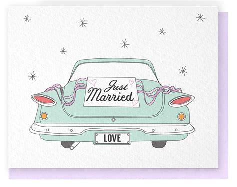 Postkarte Auto Just Married by Just Married Car Vorlagen