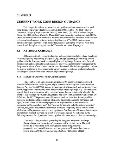 Speed Read Feed For February 19 2007 by Chapter 3 Current Work Zone Design Guidance Report