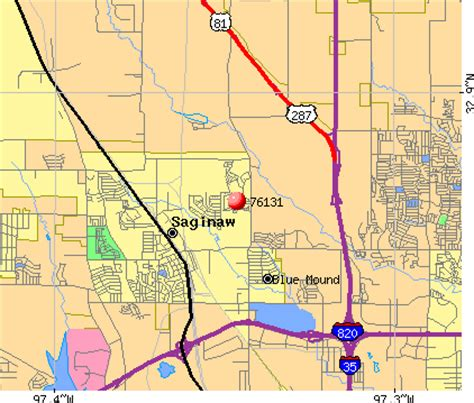 map of saginaw texas fort worth tx 76131 map