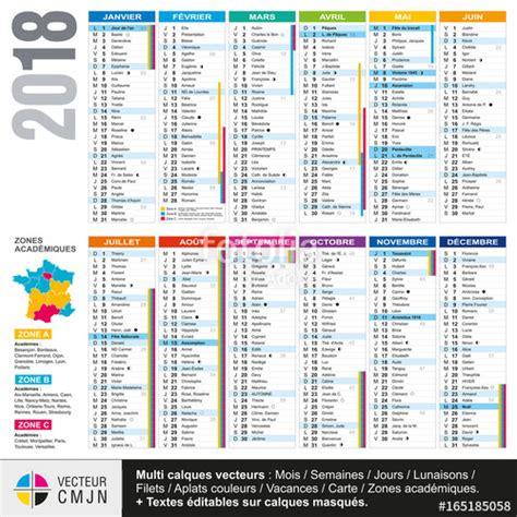 Calendrier 2018 Avec Vacances Scolaires Quot Calendrier Fran 231 Ais 2018 Avec Vacances Scolaires Et Zones