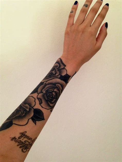 tattoo finger sleeves beginning stages roses sleeve tattoos ink body art