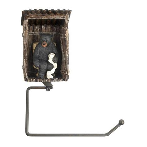 wilderness bathroom decor bear outhouse toilet paper holder rustic cabin wildlife bathroom decor new ebay