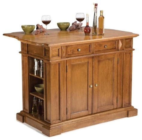 36 5 quot x 49 75 quot kitchen island in cottage oak traditional