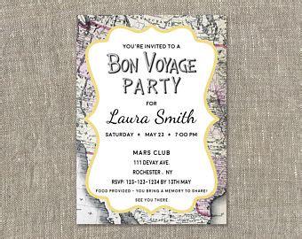 bon voyage invitation templates free bon voyage etsy