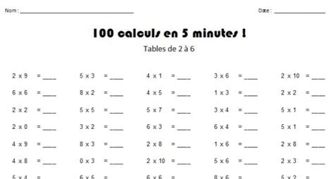 table de multiplication exercice cm1 meuble cuisine dimension exercice de table de