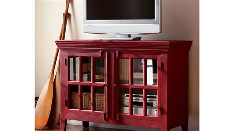 schrank rot rojo 46 quot media storage cabinet crate and barrel