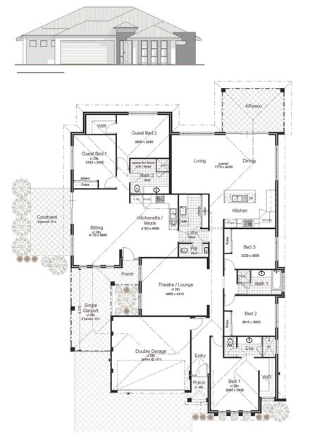 dual living floor plans designs