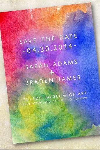 rainbow themed wedding invitations uk 25 best ideas about rainbow invitations on