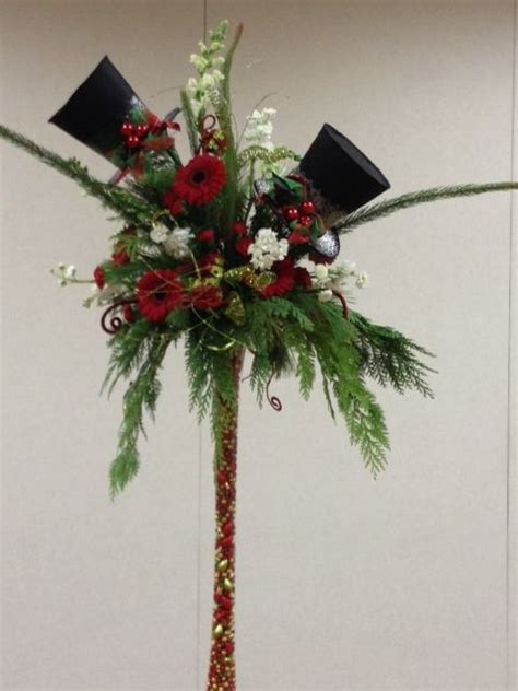 christmas hat floral 17 best images about luncheon hats and ideas on top hat centerpieces tables