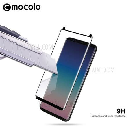 Mocolo Tempered Glass 3d Smallversion Samsung Galaxy S8 Plus Black mocolo for samsung galaxy s9 g965 3d curved tempered glass screen protector shield