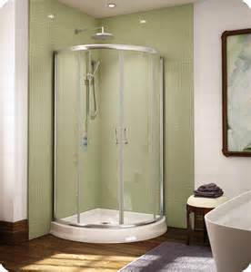 curved glass shower doors fleurco fax364 signature arc 36 quot frameless curved