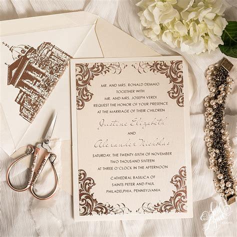 Wedding Invitations Philadelphia by Wedding Invitations Philadelphia Area Wedding Invitation
