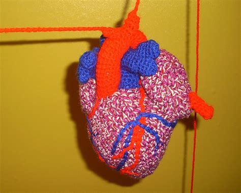 crochet pattern anatomical heart anatomical human heart c crochet patterns tutorials