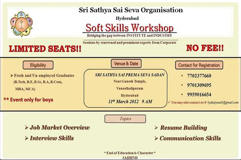 How An Mba Increases The Soft Skills That Matter Most by Workshop Soft Skills Free For Freshers