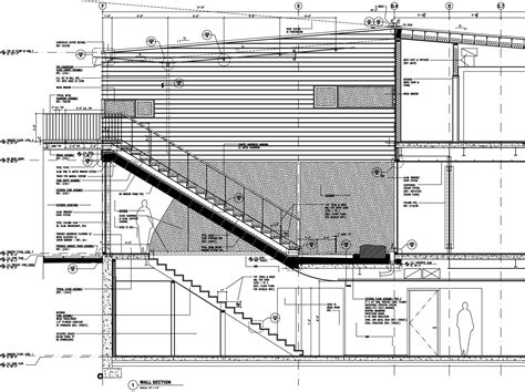 detailed section drawing gallery of courtyard house on a steep site hutchison