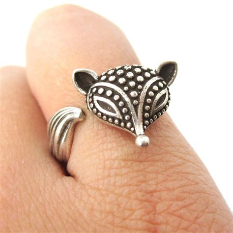 fox wrapped around your finger animal ring in silver