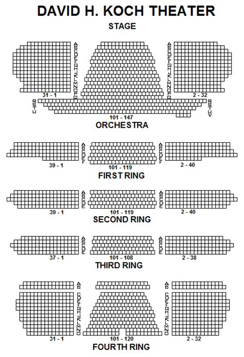 lincoln center nutcracker seating chart david h koch theater seating chart