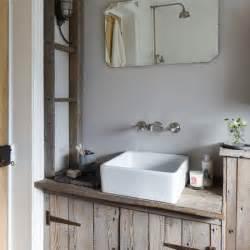Driftwood Vanity Unit Rustic Wood Bathroom Housetohome Co Uk