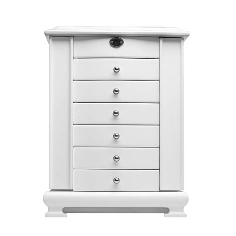white wood wardrobe with drawers large white wooden jewelry box armoire cabinet chest