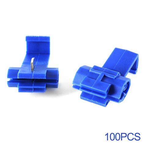 clip electrical connectors 100x blue wire connectors splice electrical clip