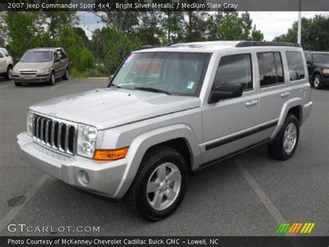 jeep commander silver bright silver metallic 2007 jeep commander sport 4x4