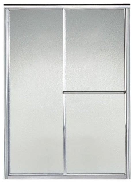Pebbled Glass Shower Door Sterling Deluxe 49 5 54 5 Quot X65 5 Quot Sliding Shower Door Silver Pebbled Glass Reviews Houzz