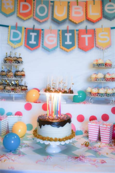 themes for a girl s 10th birthday party doubledigits a 10th birthday party lemon sugar