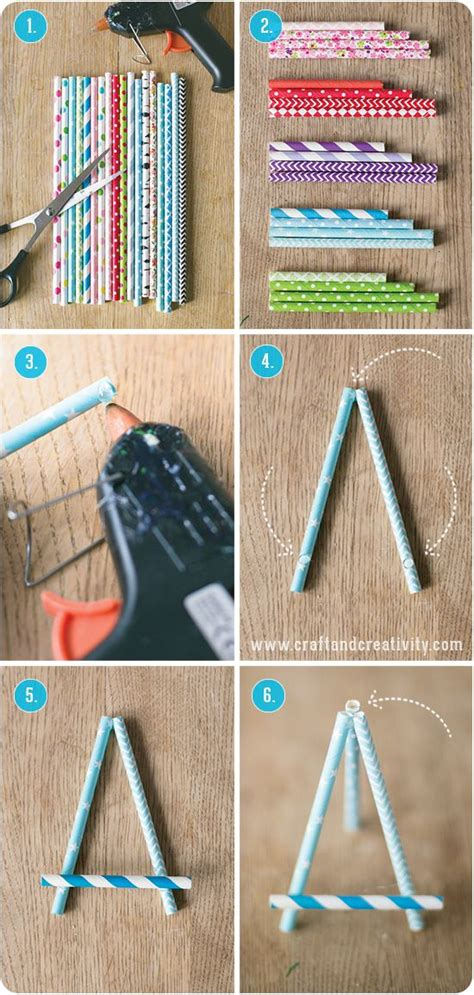 Paper Straw Crafts - paper straw easel by craft creativity paper crafts
