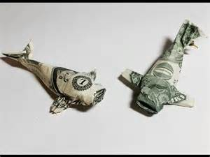 Origami Dollar Bill Fish - dollar bill origami koi dollar fish money origami
