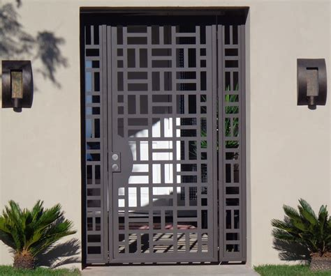 iron home contemporary metal gate panels steel wrought iron custom